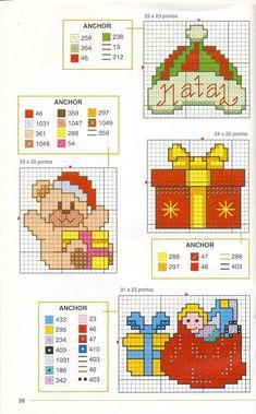 Маленькие новогодние мотивы-4 | Вышивка крестиком