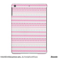 Colorful elegant girly tribal pattern aztec print iPad mini/ air/ air 2/ iPhone 6/6S Barely There iPhone 6 Plus Case