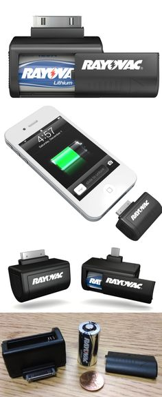 Rayovac 2-Hour Power: Power in your pocket. Rayovac's new line of external mobile device power packs include the PS71 (30--pin iPhone) and PS72 (Micro USB) plug-in chargers. The $9 units include a replaceable (not rechargeable) CR123a lithium battery, which has a 10-year shelf life, thus making them useful emergency backups in case of a power outage. And yes, like the product name says, the Rayovac units will power your smartphone for two hours of talk time.