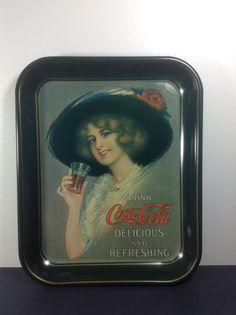 Coca Cola Soda Tray Vintage Soda Fountain Diner 1970'S #coke #cocacola #advertising #vintage  #diner #generalstore #soda #pop