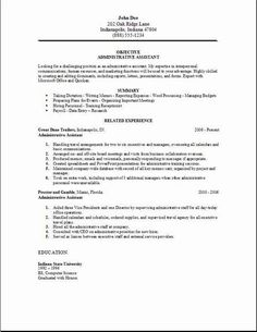 cover letter for administrative position administrative assistant resume examples samples free edit with word - Administrative Position Cover Letter