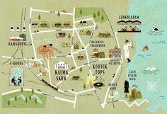 Tallinn map, Estonia by Vesa Sammalisto