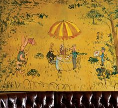Bemelmans.  The charm of this bar lies in its whimsical mural by Herr Ludwig Bemelman. Born in Austria, he moved to New York during WWI.  He drew this mural in 1947 in return for accommodation. A fantastical depiction of Central Park, the walls of this haute New York establishment are filled with picnicking rabbits, elephants reading the newspaper and families of giraffes out for a Sunday walk.