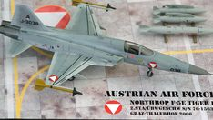 Maßstab: 1:72   Einzelteile: 51   Länge: 200mm   Spannweite: 112mm Tiger Ii, Us Navy, Air Force, Scale Models, Austria, Airplane, Fighter Jets, Aircraft, Wings