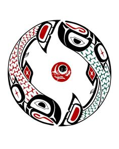"""""""Cycle of Life Salmon chin tluwa"""" by Lon French, Victoria // The salmon symbolizes instinct, determination and persistence. The salmon is also a provider of life. Salmon in pairs is good luck. Salmon is also a symbol of abundance, wealth and prosperity because the salmon is the primary food source for the people of the Northwest Coast... // Imagekind.com -- Buy stunning fine art prints, framed prints and canvas prints directly from independent working artists and photographers."""