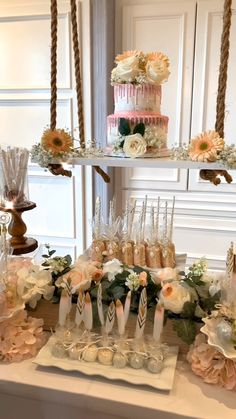Boho Baby Shower Dessert Table - New Sites Hawaiian Party Decorations, Bridal Shower Decorations, Wedding Decorations, Vintage Party Decorations, Baby Shower Desserts, Baby Shower Themes, Shower Ideas, Sweet Table Wedding, Wedding Candy Table