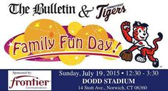Mark your calendars, Eastern Connecticut!  The Bulletin and the CT Tigers will be hosting our first Family Fun Day community event at Dodd Stadium on Saturday, July 19, sponsored by Frontier Communications! View, print and share the flier here: https://www.scribd.com/doc/265729793/Family-Fun-Day-event-at-Dodd-Stadium-rescheduled-for-Sunday-July-19-2015 #CT #Norwich #Connecticut #Family #Fun #Event #NewLondonCounty