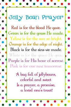 Easter gift ideas easter poem and easter printables negle Choice Image
