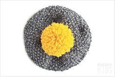 Pom Pom Knit Hat. Choose Your POM POM by kokokoshop on Etsy