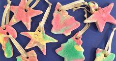 Marbled Salt Dough Christmas Tree Decorations