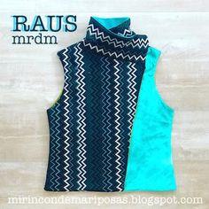 mi rincón de mariposas: Chaleco Raus (con patrón) Chevron, Diy Couture, Free Pattern, Tank Man, Sewing, Mens Tops, Shorts, Ideas Para, Inspiration