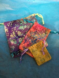 A personal favorite from my Etsy shop https://www.etsy.com/listing/399075145/batik-3-pack-drawstring-bags