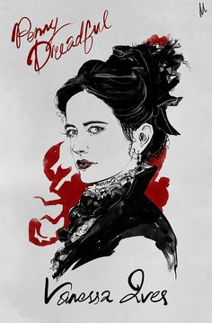 Penny Dreadful Quotes, Eva Green Penny Dreadful, Horror Drawing, Horror Art, Horror Movies, Rhys Cooper, Penny Dreadfull, Tim Burton Style, Green Pictures