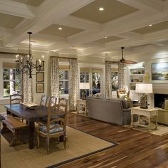 Coffered Ceiling Design Ideas, Pictures, Remodel, and Decor