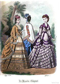 Le Monde Elégant 1870 July