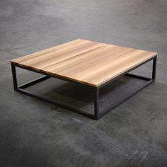 Table Basse Carre Industrielle Bois Metal Tables Basses
