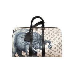 Louis Vuitton Elephant Safari Chapman Brothers Keepall 45 Rare Runway... (€3.790) ❤ liked on Polyvore featuring bags and luggage
