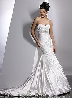The dress I would have gotten, had it not been so hot! The fabric was pretty heavy... great for a winter wedding tho!