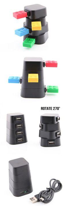 Revolving Tower USB Hub  http://www.usbgeek.com/products/revolving-tower-hub