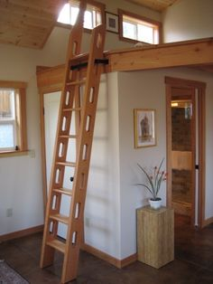 Attic Access Ladder Spaces with Fir Ladder Loft Sleeping