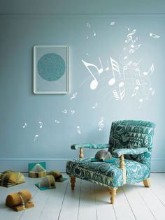 Music Note Children Nursery Car Art Wall by AmazingSticker on Etsy,