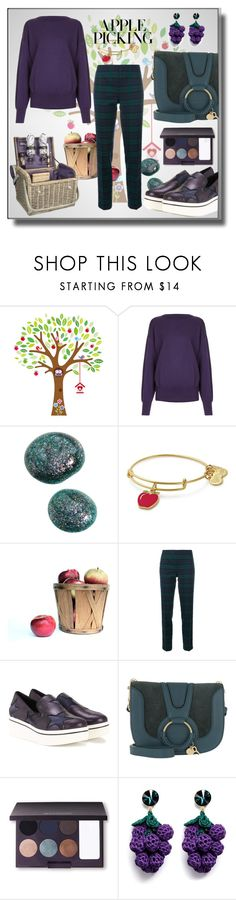 """""""apples"""" by elza-smith ❤ liked on Polyvore featuring H Beauty&Youth, Alex and Ani, P.A.R.O.S.H., STELLA McCARTNEY, See by Chloé, Laura Mercier and Venessa Arizaga"""
