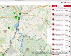 Fahrrad Routenplanung mit der Sigma Data Center Software.