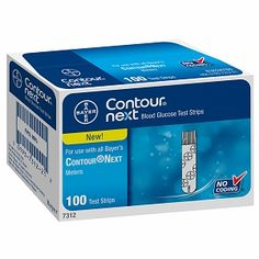 Image of Bayer Contour Next Blood Glucose Test Strips 100 Each