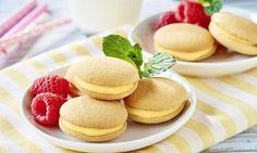 Biszkopciki z budyniem biszkoptowym Cannoli, Sweet Cakes, Doughnuts, Truffles, Pancakes, Cheesecake, Cookies, Breakfast, Food