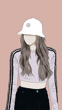 Anime Girl Triste, Cover Wattpad, Cute Couple Art, Girly Drawings, Cute Girl Wallpaper, Digital Art Girl, Cartoon Art Styles, Cute Cartoon Wallpapers, Anime Art Girl