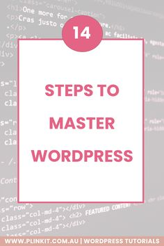 Want to know how to get better at Wordpress? Here are 14 different ways to learn all the ins and outs of Wordpress. Wordpress For Beginners, Wordpress Help, Wordpress Website Design, Wordpress Plugins, Wordpress Admin, How To Get Better, Website Themes, How To Start A Blog, Improve Yourself