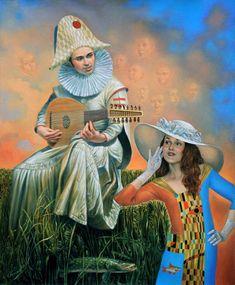 Michael Cheval - Nota invisible, óleo sobre lienzo, 2015