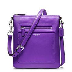 Purple Coach Bag.