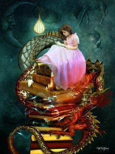 Books inspire Imagination via ellenzee.tumblr.com