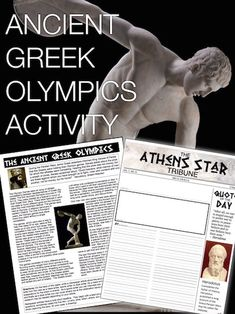 Ancient Greek Olympics Activity begins with students reading informational text about the ancient Greek Olympics. Students continue by writing a newspaper article from one of three point of views. This can be used in class or as homework as it's a completely stand alone assignment.