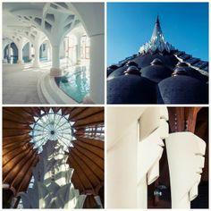 Thermal bath Hagymatikum in Makó designed by Imre Makovecz. Frank Lloyd Wright, Gaudi, Architecture Organique, Thermal Baths, Organic Architecture, Wabi Sabi, Hungary, Europe, Exterior