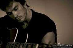 Ian Somerholder.... he's hotter with that guitar, if that is even possible!