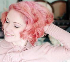 2017 coral pink hair