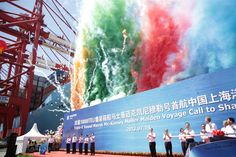 """Blog post by #TripleE captain Jes Meinertz: """"An impressive and colourful maiden voyage event in Shanghai"""". See more at: http://maersklinesocial.com/captains-of-the-triplee-6"""