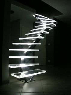 LED Staircase- New and fascinating way to show off a staircase.