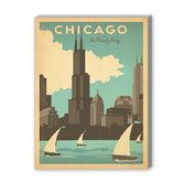 Found it at Wayfair - Chicago Windy City Vintage Advertisement on Wrapped Canvas
