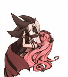 Shadow Skellington and Amy Ragdoll by on DeviantArt Shadow And Maria, Shadow And Amy, Shadow Art, Maria The Hedgehog, Shadow The Hedgehog, Sonic The Hedgehog, Amy Rose, Learn To Draw Anime, Sonic Fan Characters