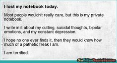 I lost my notebook today.