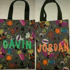 Personalized Trick or Treat bags.