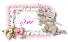 Kitty and Flowers Cute Girls, Kitty, Cats, Frame, Flowers, Jasmine, Little Kitty, Picture Frame, Gatos