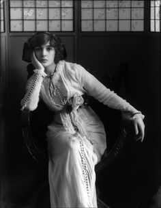 "Julia James by Bassano, April 1912 - Julia James (1890-1964) was an actress who was born in London and began her career at the Aldwych Theatre under Seymour Hicks, playing there Supper Belle in ""Blue Bell"" (1905). She appeared at the Gaity Theatre in ""The Girls of Gottenburg"", ""Havana"" and ""Our Miss Gibbs. In 1913 she played Sombra in ""The Arcadians of L'Olympia in Paris, France."