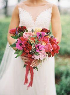 Hot pink perfection: http://www.stylemepretty.com/2015/06/02/colorful-boho-glam-texas-hill-country-wedding/ | Photography: Brett Heidebrecht - http://brettheidebrecht.com/