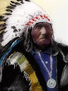 Native warrior by Craig Nelson kp