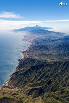 Imagen aérea de Anaga , Tenerife, tomada por ILoveSantaCruz