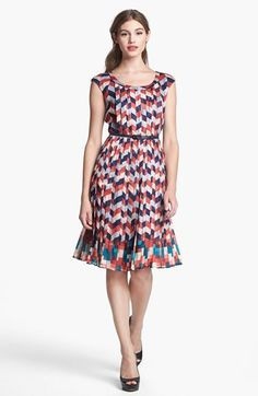Halogen® Pleated Chiffon Dress available at #Nordstrom. Got this on sale last week for my work trip to Chicago!  LR